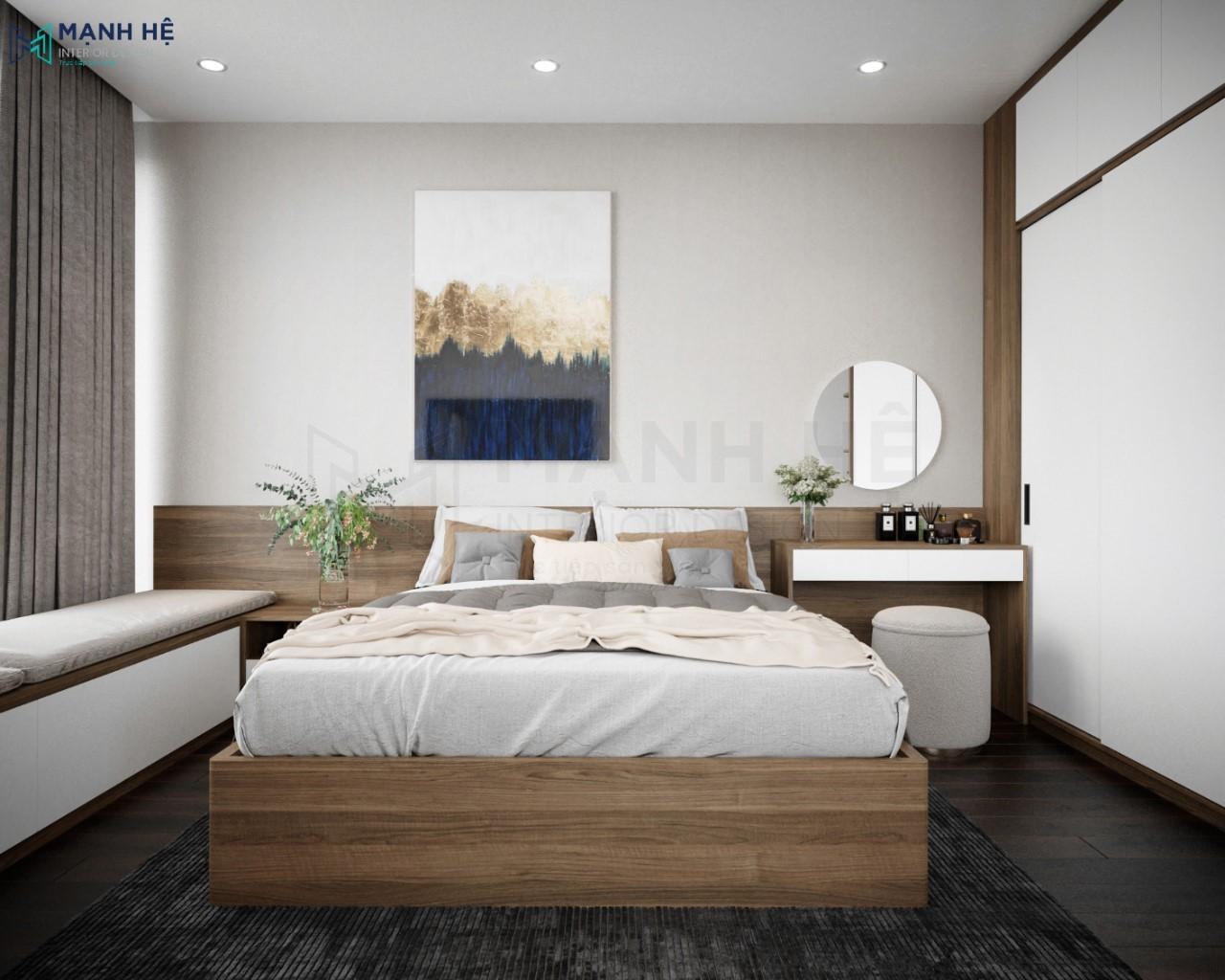 Thiết kế nội thất phòng ngủ master đẹp theo phong cách hiện đại