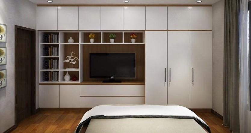 30+ Mẫu tủ quần áo âm tường gỗ công nghiệp đẹp hiện đại nhất cho phòng ngủ