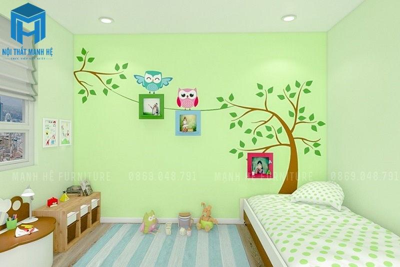 giấy dán trường cho phòng ngủ của bé, thích hợp với cả bé trai và bé gái
