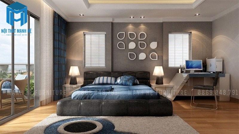 Nội thất phòng ngủ có thảm trải sàn