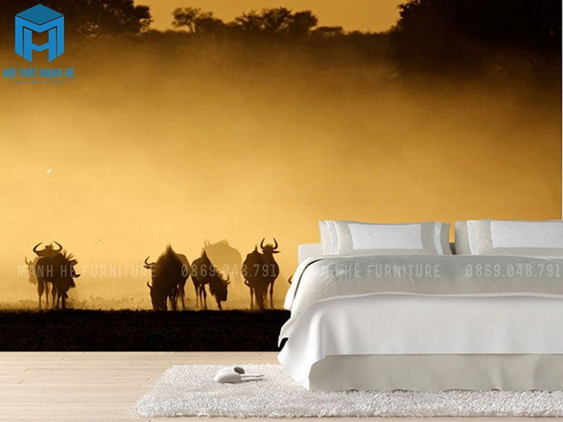 giấy dán tường phòng ngủ cho phòng ngủ master