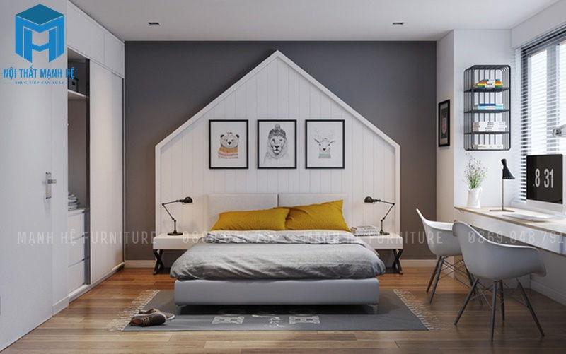 sử dụng tranh ảnh treo tường để trang trí phòng ngủ sinh động hơn