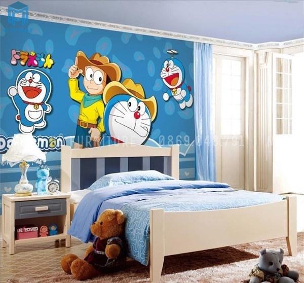 giấy dán tường doremon cho các bé
