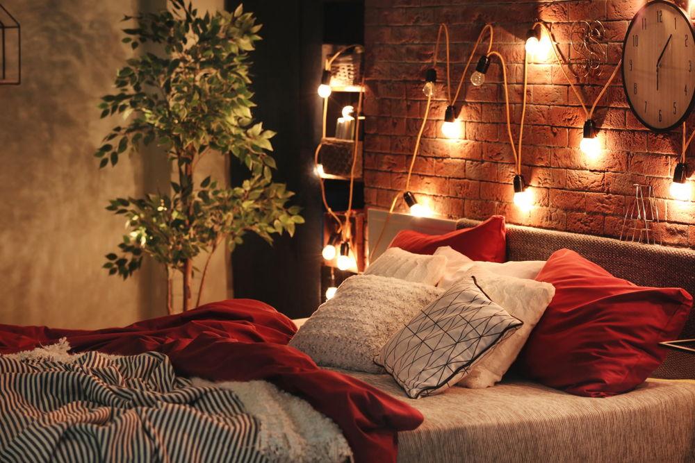 đèn led dây trang trí phòng ngủ