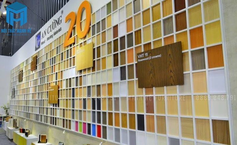 Bảng màu gỗ MFC hiện nay của công ty gỗ An Cường
