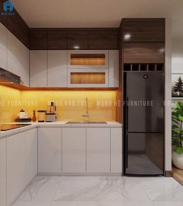 nội thất bếp liền phòng khách