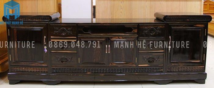 Kệ tivi bằng gỗ Mun tự nhiên