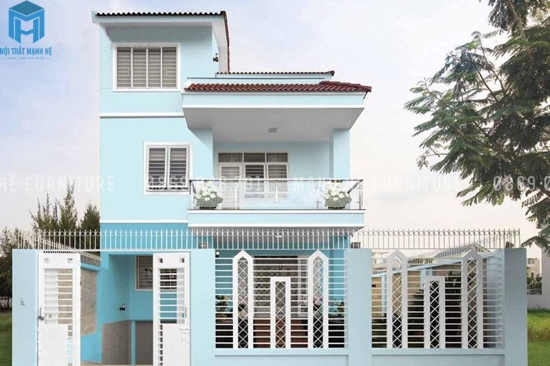 nhà màu xanh dương