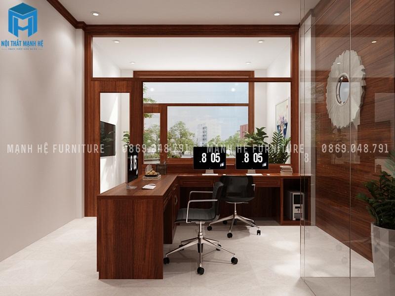 Văn phòng làm việc được tích hợp vào với nhà ở
