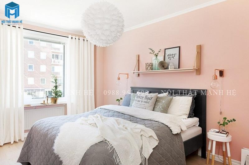 tường màu hồng