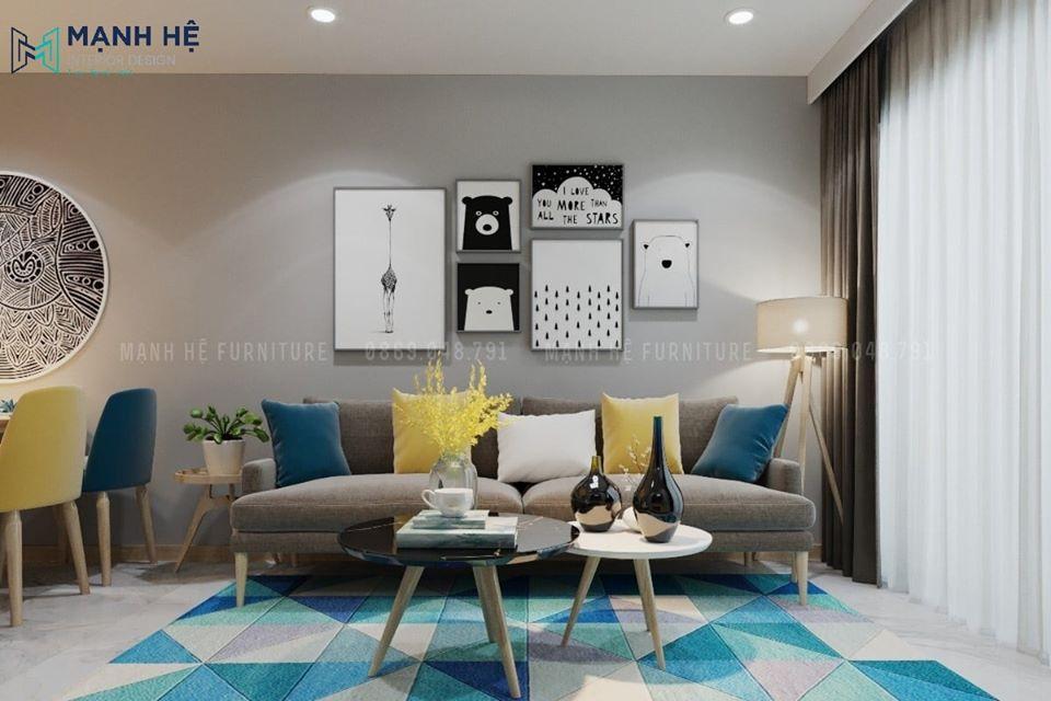 Thảm trải sàn phòng khách đẹp chất lượng