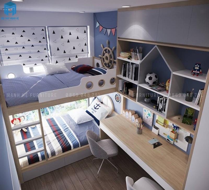 phòng ngủ đôi cho bé trai