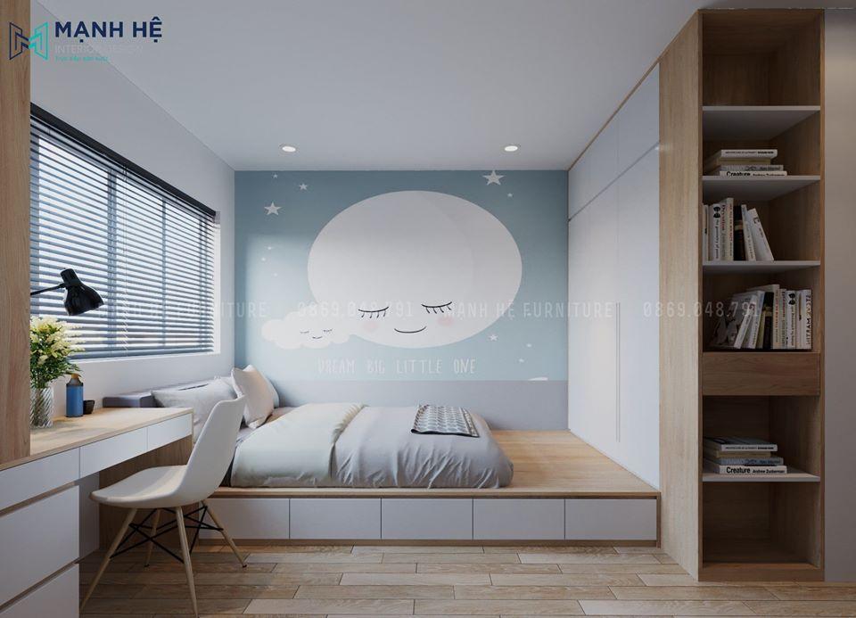 phòng ngủ thiết kế tận dụng tối đa không gian