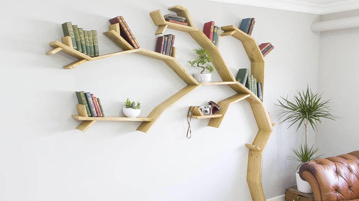 Kệ treo tường hình cây rất sáng tạo và độc đáo