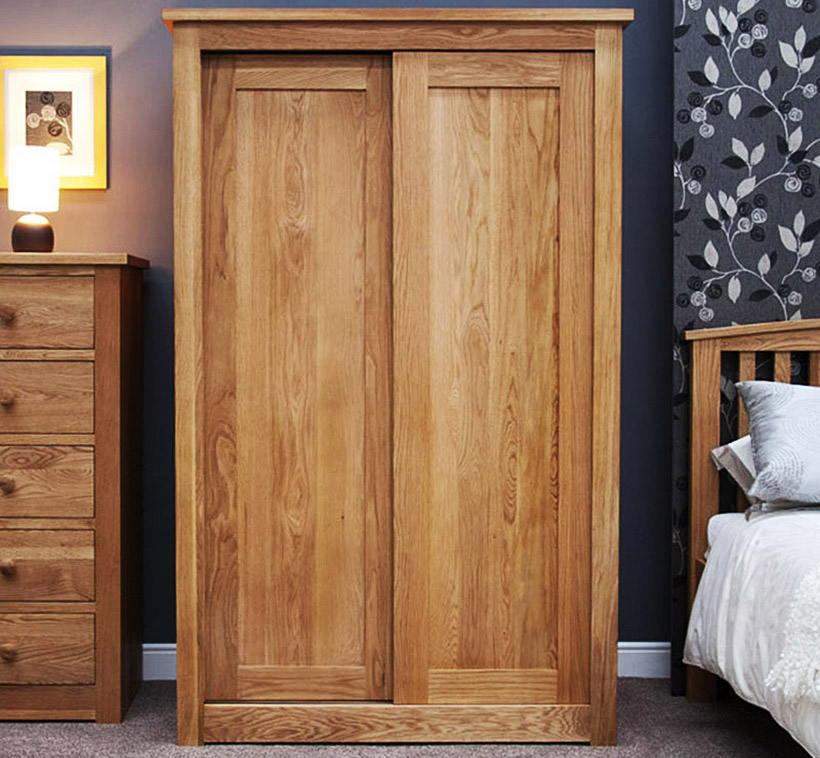 Tủ quần áo gỗ Xoan Đào cánh cửa lùa nhỏ gọn, đường vân tự nhiên, đẹp