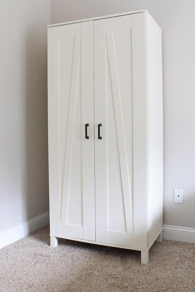 Tủ quần áo gỗ tự nhiên 2 ngăn nhỏ gọn cho phòng siêu nhỏ và chủ nhân yêu thích cuộc sống giản đơn, tươi sáng