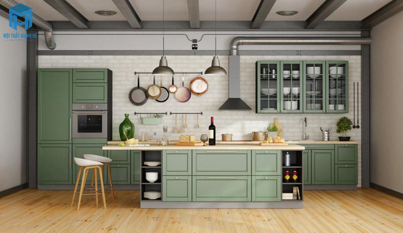 tủ bếp tự nhiên