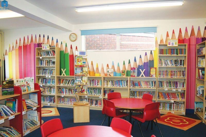 phòng đọc sách đẹp cho bé