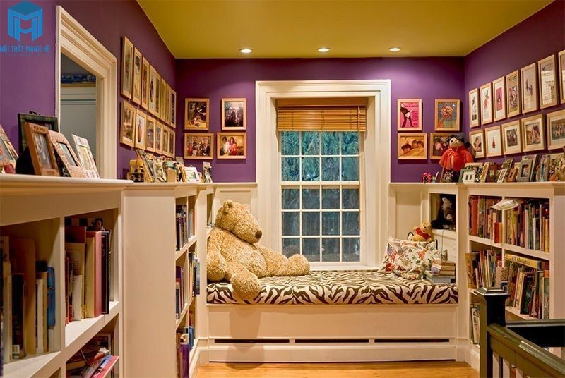 phòng đọc sách cho bé