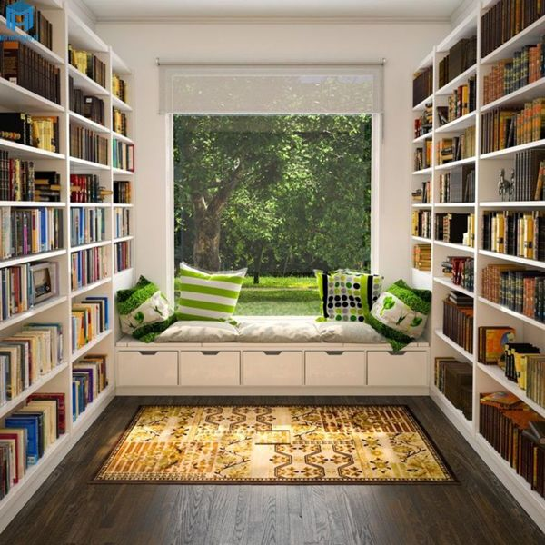 giá sách phù hợp cho phòng đọc sách