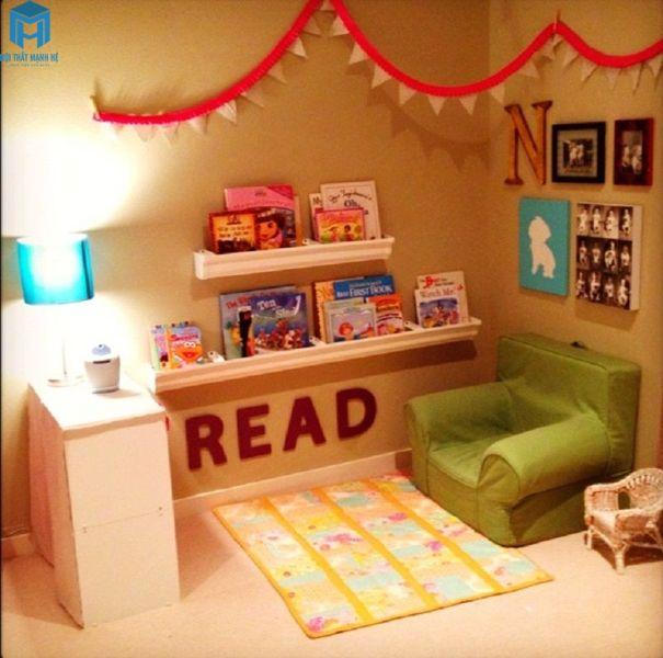 phòng đcọ sách cho trẻ