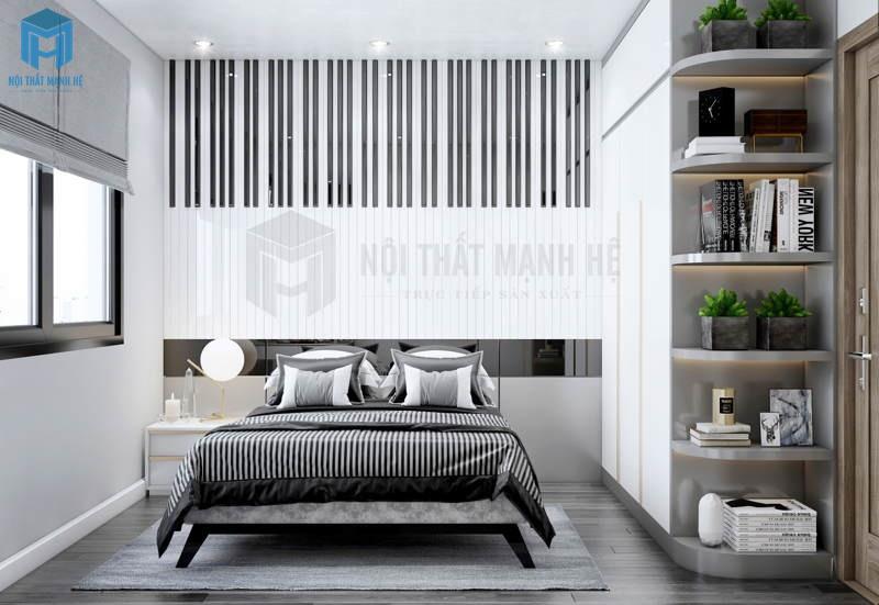 Phòng ngủ đen trắng