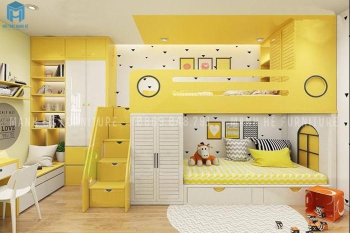 Giường tầng cho 2 bé