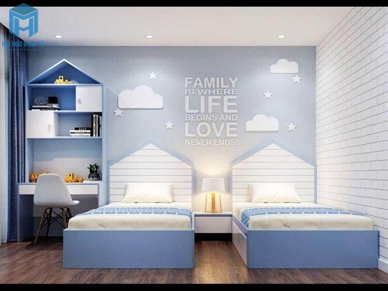 Phòng ngủ cho 2 bé