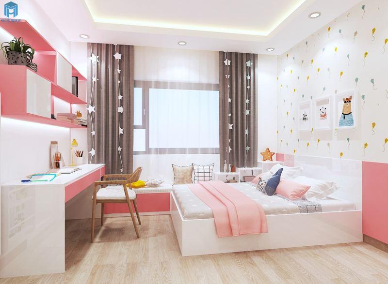 Phòng ngủ cho bé có bệ đọc sách