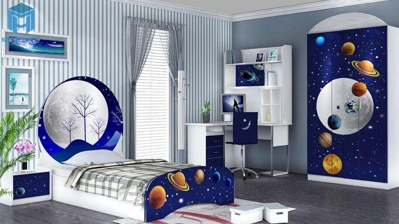 Phong cách thiết kế phòng ngủ dãi ngân hà