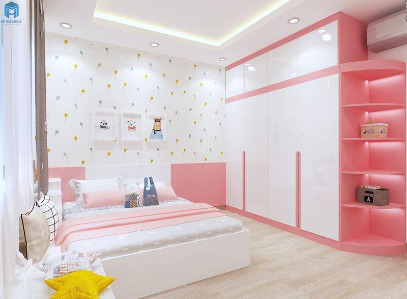 Thiết kế phòng ngủ nhẹ nhàng cho bé