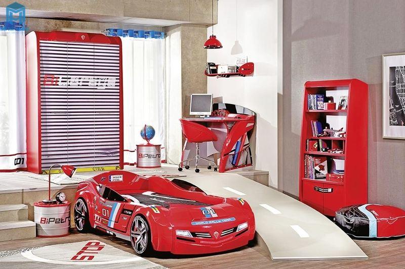 Đường đua thu nhỏ trong phòng ngủ cho trẻ