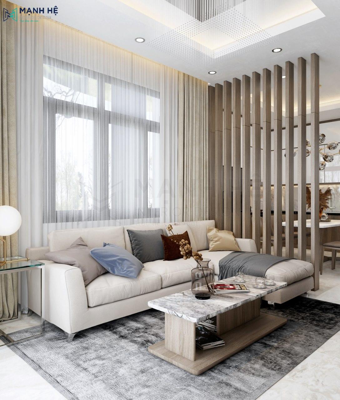 Phòng khách với những món đồ nội thất đơn giản