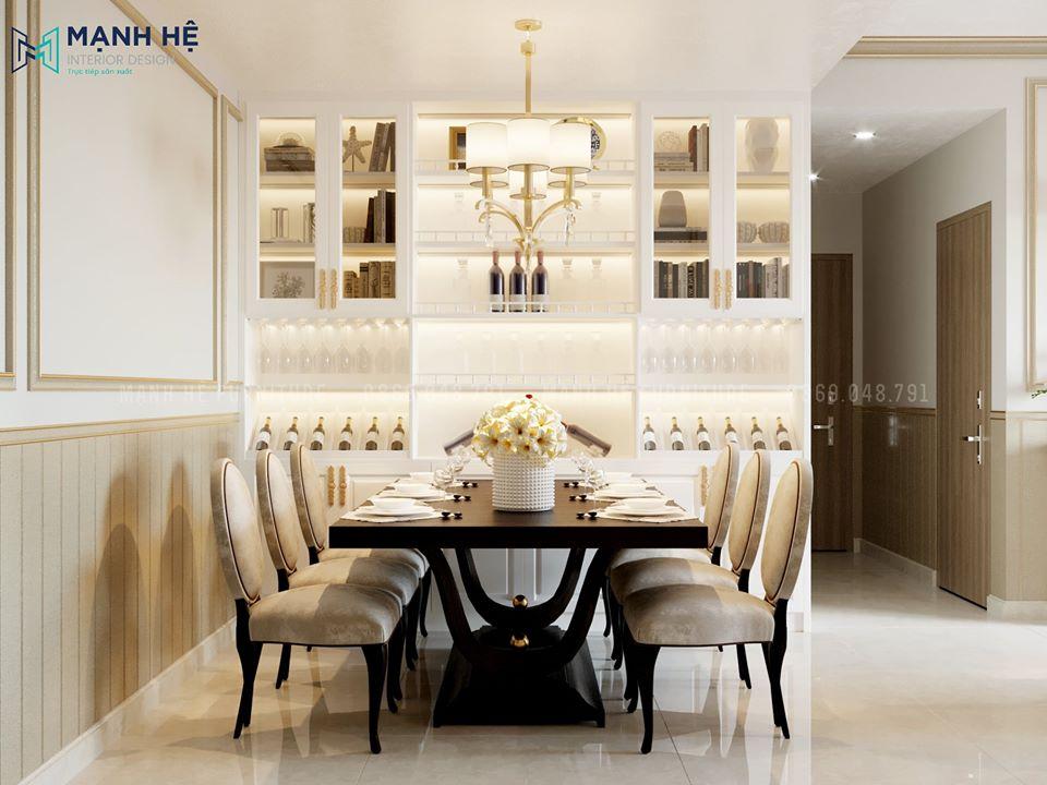 Phòng ăn phong cách tân cổ điển