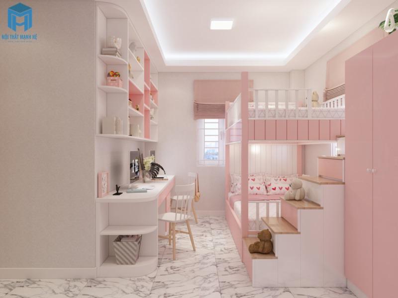 phòng ngủ đôi cho bé