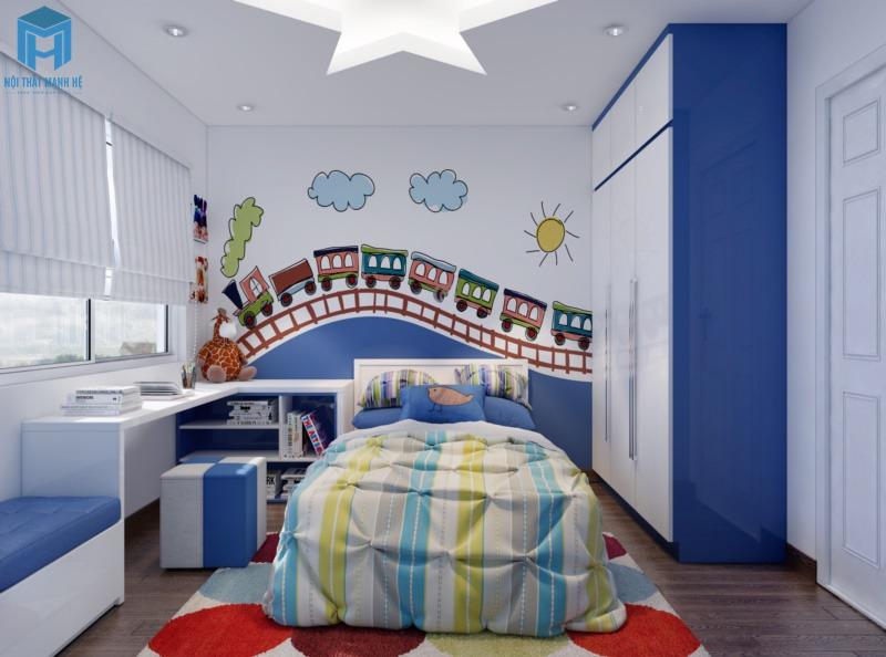 Giấy dán tường 3d cho phòng ngủ bé