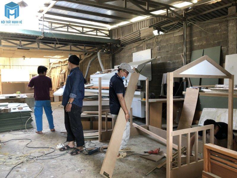Xưởng sản xuất của Mạnh Hệ tại quận 12