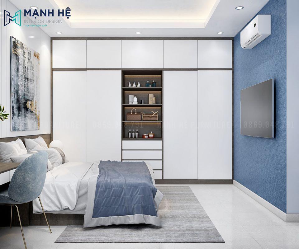 Hệ tủ quần áo lớn trong phòng ngủ