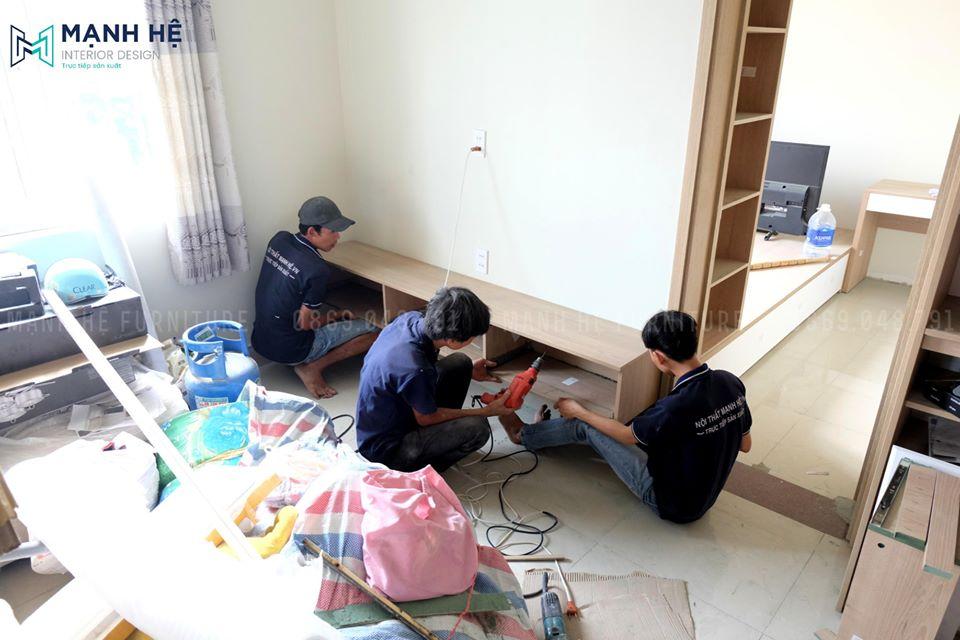 Một căn chung cư được Mạnh Hệ thiết kế và thi công