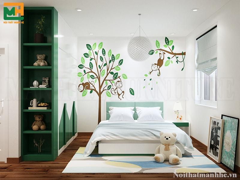 mẫu thiết kế nội thất phòng bé
