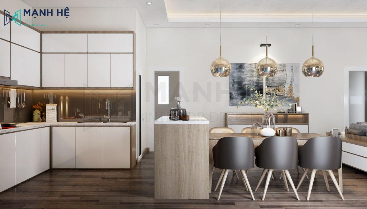 không gian phòng bếp lớn