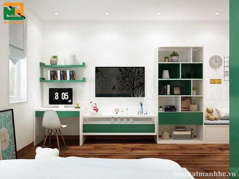mẫu thiết kế nội thất phòng bé trai