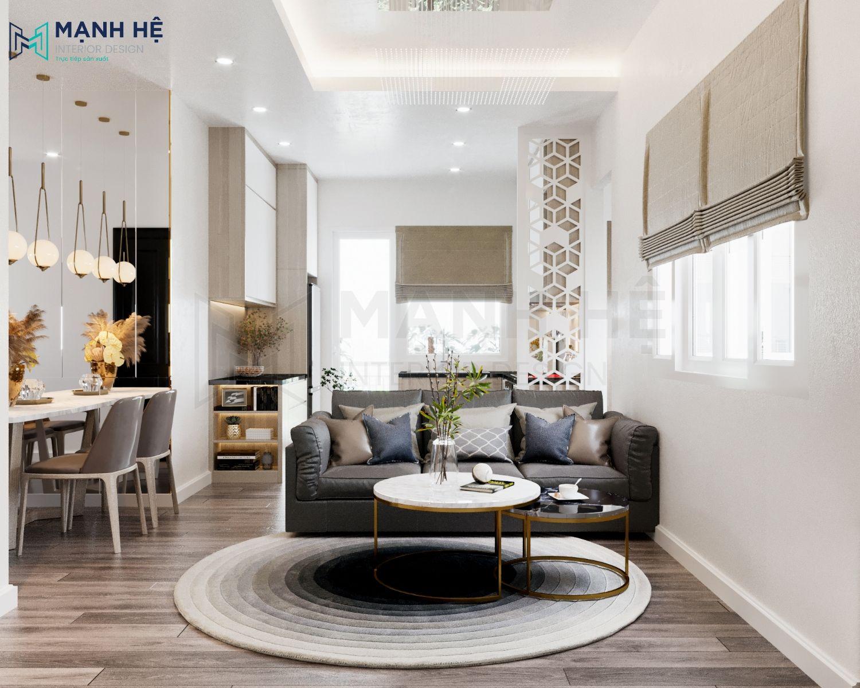 Thảm trài phòng khách hình tròn