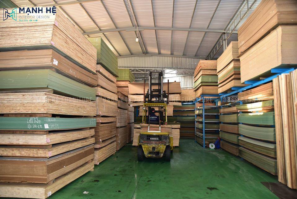 Xưởng thi công nội thất gỗ