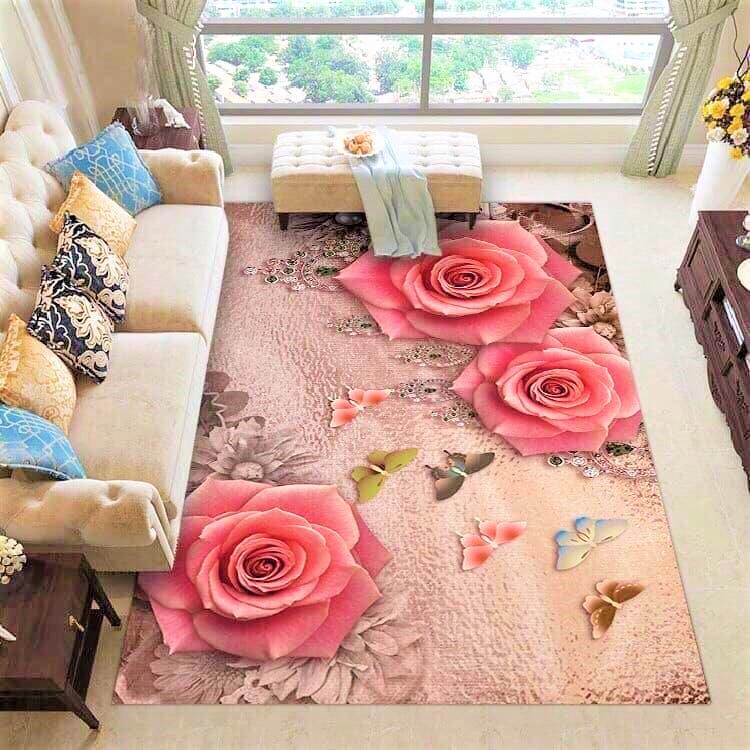 Thảm trải sản phòng khách 3D