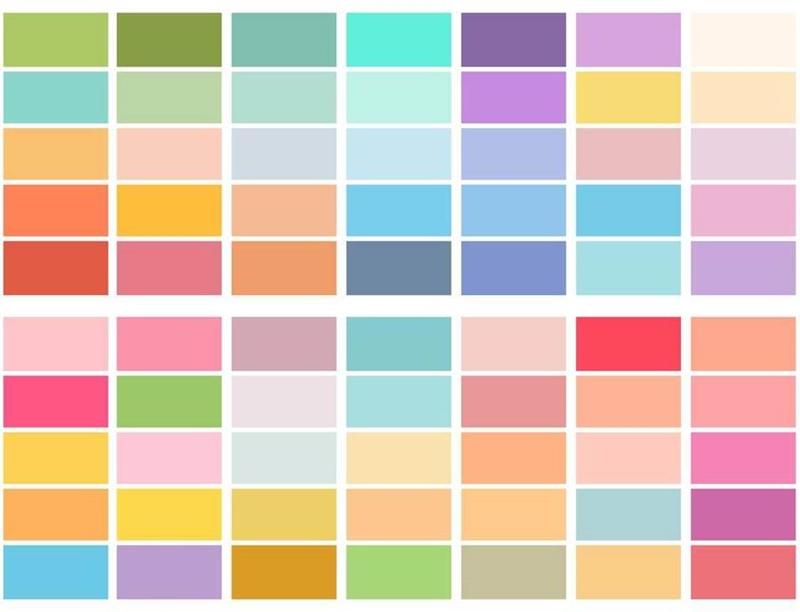 Bảng màu pastel thiết kế nội thất