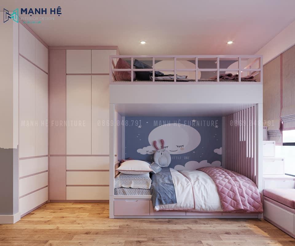 Phòng ngủ có giường tầng