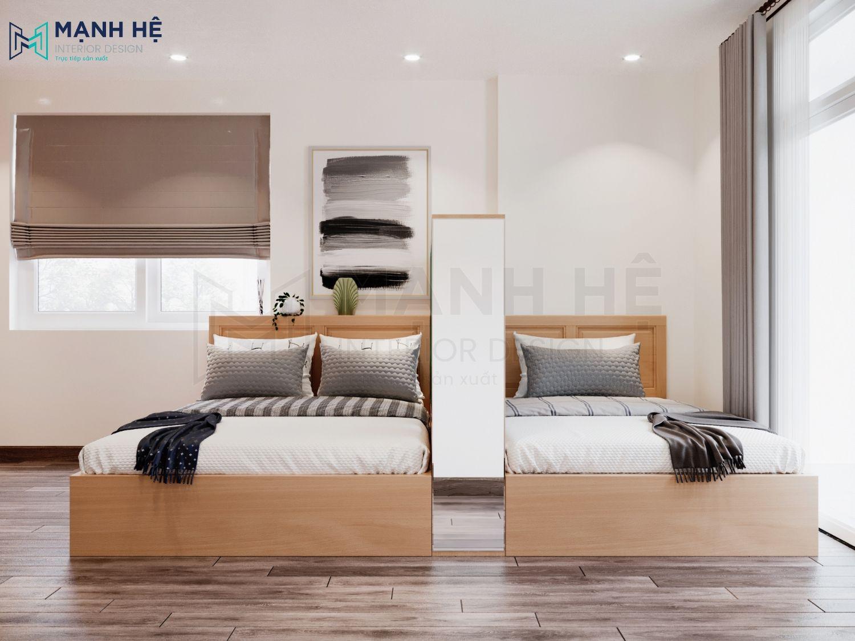 Nội thất phòng ngủ master đơn giản