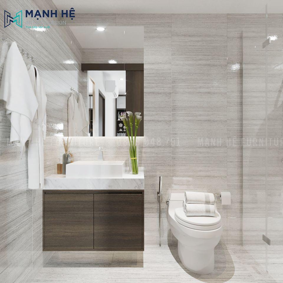 Tủ gỗ nhựa treo tường dưới lavabo