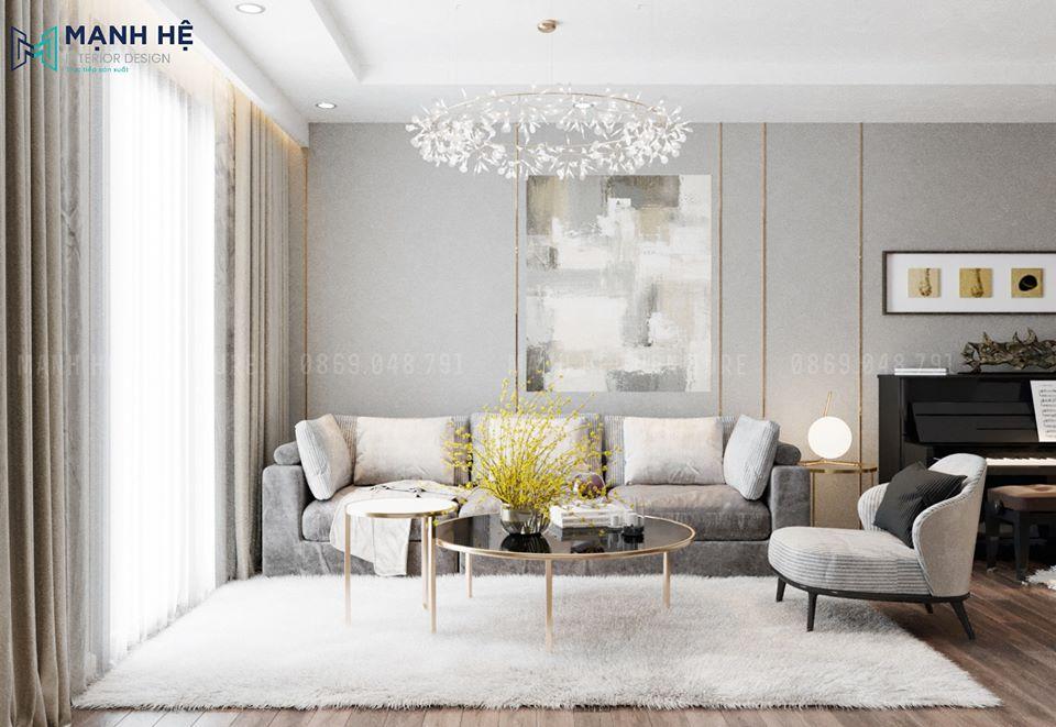 Ghế sofa chữ I đơn giản